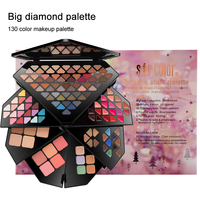 S.F.R color professional multilayer folding makeup sets 130 colors eyeshadow  palette diamond matte eyeshadow Pallete  HF136 Eyeshadow