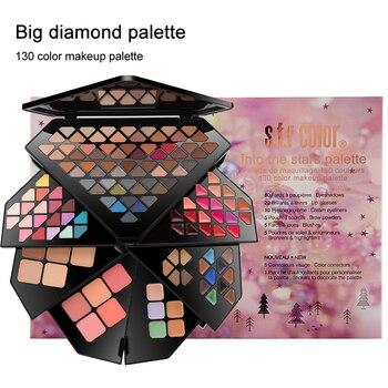 S.F.R color professional multilayer folding makeup sets 130 colors eyeshadow  palette diamond matte eyeshadow Pallete  HF136 Eye Shadow