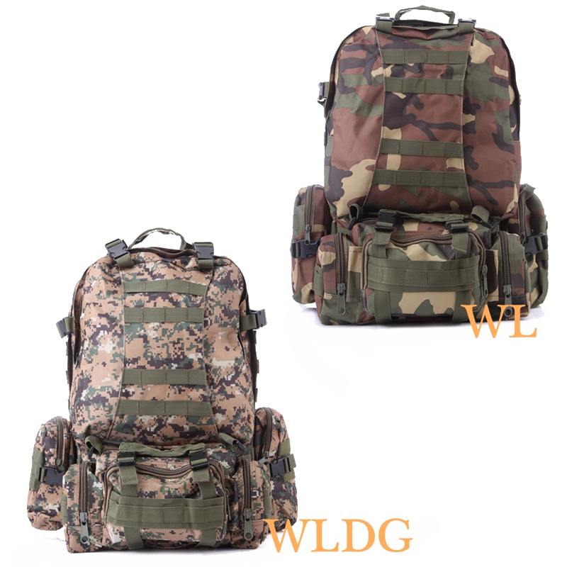 Outdoor Molle Backpack Military Combat Tactical Backpacks Hiking Camping Camouflage Climbing Bags Men Women outlife new style professional military tactical multifunction shovel outdoor camping survival folding spade tool equipment