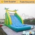 Inflatable biggors inflável árvore de slides com piscina para jogos de esportes