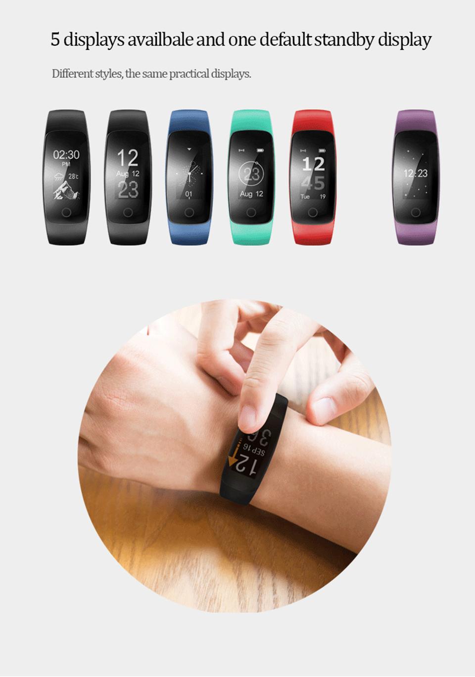 Teamyo Sport Smart Bracelet Activity tracker Cicret bracelet GPS fitness tracker Heart Rate Monitor cardiaco Smart wristband 13