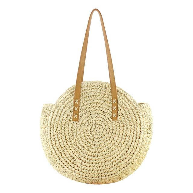 Round Straw Beach Bag...