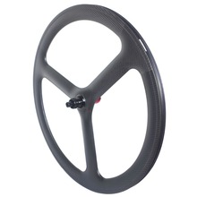 Carbon Wheelset Clincher Tri Spoke Road-Bike Centerlock 6-Bolts Tubular-Through-Axle