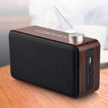 Altavoz portátil de madera con Bluetooth, Subwoofer con Control táctil, estéreo, MP3,...
