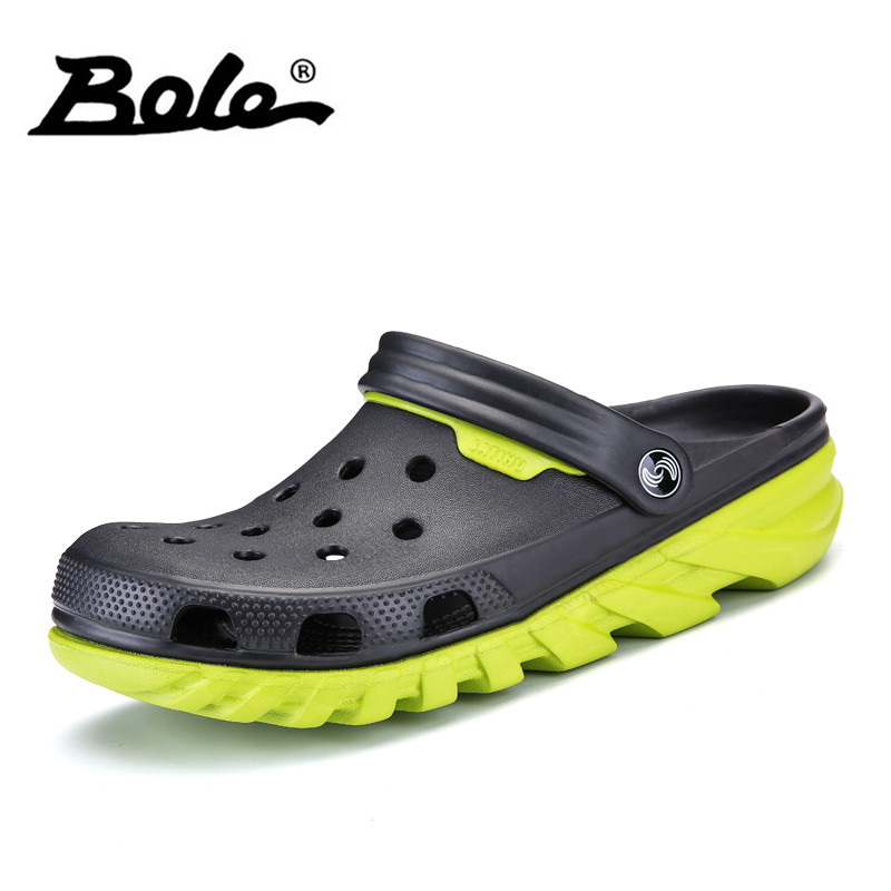 BOLE Size 38-46 Summer Light Weight Men Sandals Breathable Casual Flat Shoes Beach Sandals for Men Large Size Sandals