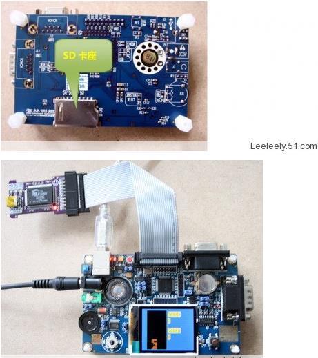 ARM development board LPC2132TFT true color send simulator an incremental graft parsing based program development environment