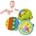Varejo Crianças Bebê Tambor Brinquedo Instrumento Musical Pandeiro De Madeira Colorido Dos Desenhos Animados Preschool Educacional Toy Presentes