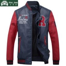 Hot Sale Leather Jacket Men Fleece Thicken Faux Leather Coats Brand Ou