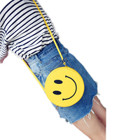 2016 Summer New Personalized Fashion Handbags Mini Smiley Tassel Messenger Bag Small Satchel Purse Lady Phone