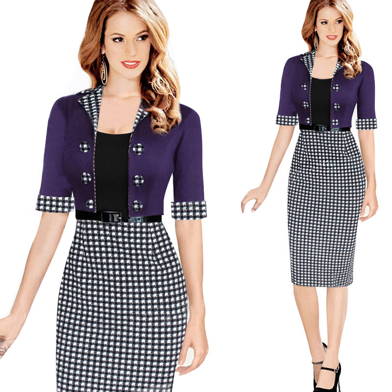 Aliexpress.com Comprar 2016 Elegantes Trajes de Negocios Blazer con Faldas  Trajes Formales Traje de Oficina Trabajo de Las Señoras Túnicas con  Cinturones