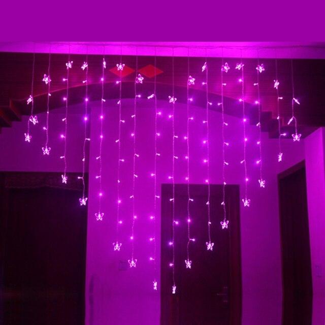 Laimaik 2 м 124 светодио дный занавес Строка Гирлянда Романтический Фея Света сад вечерние Рождественские огни Открытый Свадебные украшения для дома