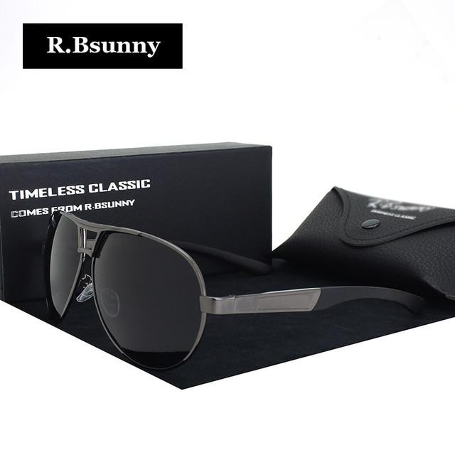 12b6b9153bc0 Fashion Brands polarized sunglasses Men Business Classic high quality  sunglasses block Driving glare UV400 goggle R.Bsunny R1611