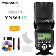 YONGNUO YN560 אלחוטי IV מאסטר + פלאש + מובנה מערכת הדק פלאש Speedlite עבור Canon Nikon Pentax אולימפוס Fujifilm