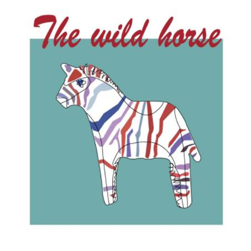 T shirt patch Diy The wild horse 21cm pattern brand logo iron on patches for clothing transfer printing clothes cute 3d stickers