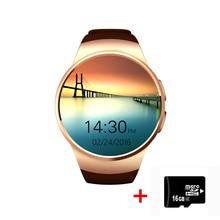 Kw18 2016ใหม่ล่าสุดsmart watchสำหรับapple samsung androidสนับสนุนh eart rate monitorสุขภาพเต็มรอบs mart w atchสวมใส่อุปกรณ์