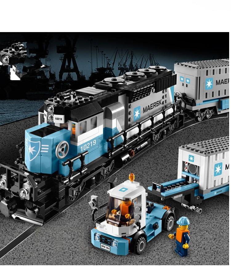 Lepin 21006 1234pcs New Genuine Technic Ultimate Series The Maersk Train Set Building Blocks Bricks Toys  10219 gifts lepin 21006 compatible builder the maersk train 10219 building blocks policeman toys for children