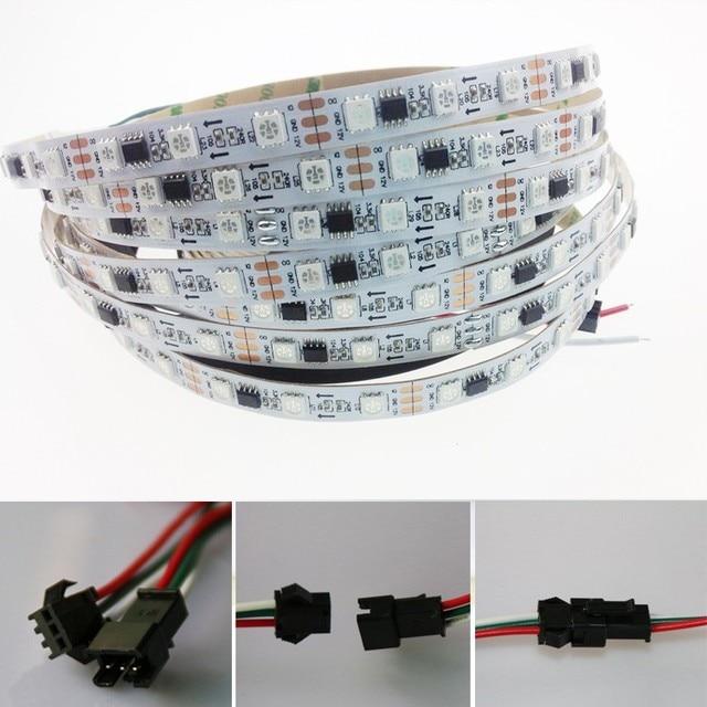 LED strip 5m DC12V ws2811ic 5050 full color RGB SMD addressable ws2811 led pixels strip for LED lighting new#LRT15610#