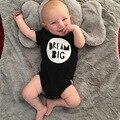 Dream Big baby rompers мальчики девочки одежда детская одежда ползунки с коротким рукавом новорожденных roupas де bebe fille малышей одежда