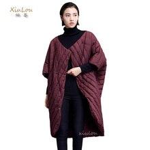 2016 дизайнер женские зимние пальто способа высокого качества лонг duck down пальто женщин куртка Асимметричный длина Зимнее Пальто Женщина
