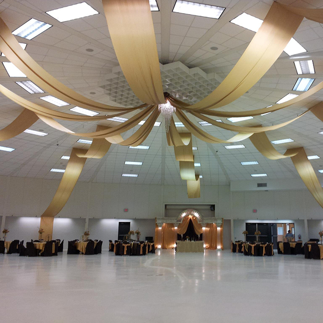 Amazing 10 Pcs Ceiling Drapery Wedding Event Party Decoration Drape Canopy Drapery  Flat Fabric For Roof 2ftx32ft