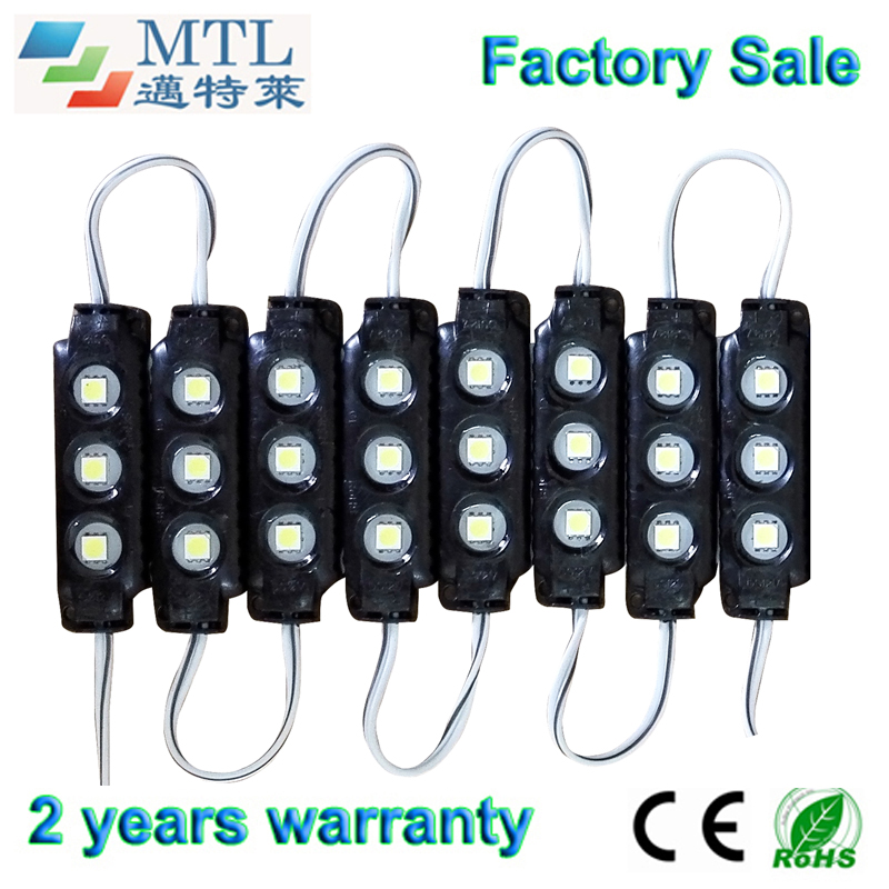 SMD5050 IP65 waterproof LED module 12V, Back lighting for channel letters / light Boxes, blak,  200PCS/lot,  Factory Wholesale