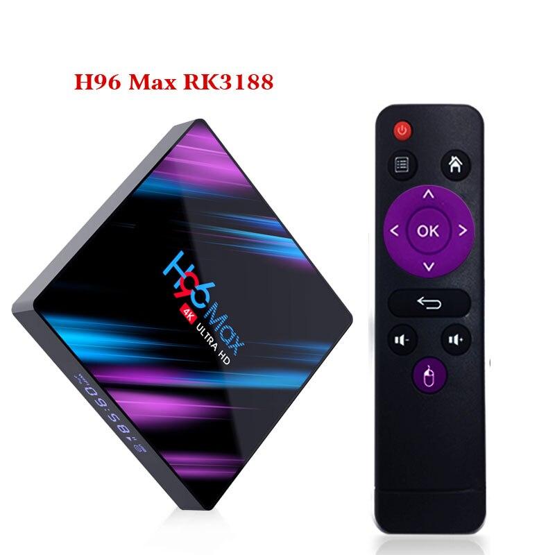 H96 MAX TV caja Android 9,0 Rockchip RK3318 4G 32 GB 64 GB USB3.0 H.265 4 K de Youtube, Netflix google jugar pk x96 mini caja de TV inteligente