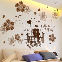 2e93bef0f [SHIJUEHEZI] رومانسية الأزواج الجدار ملصق PVC المواد DIY الزهور صور مطبوعة  للحوائط لغرفة المعيشة غرفة نوم الزواج غرفة الديكور