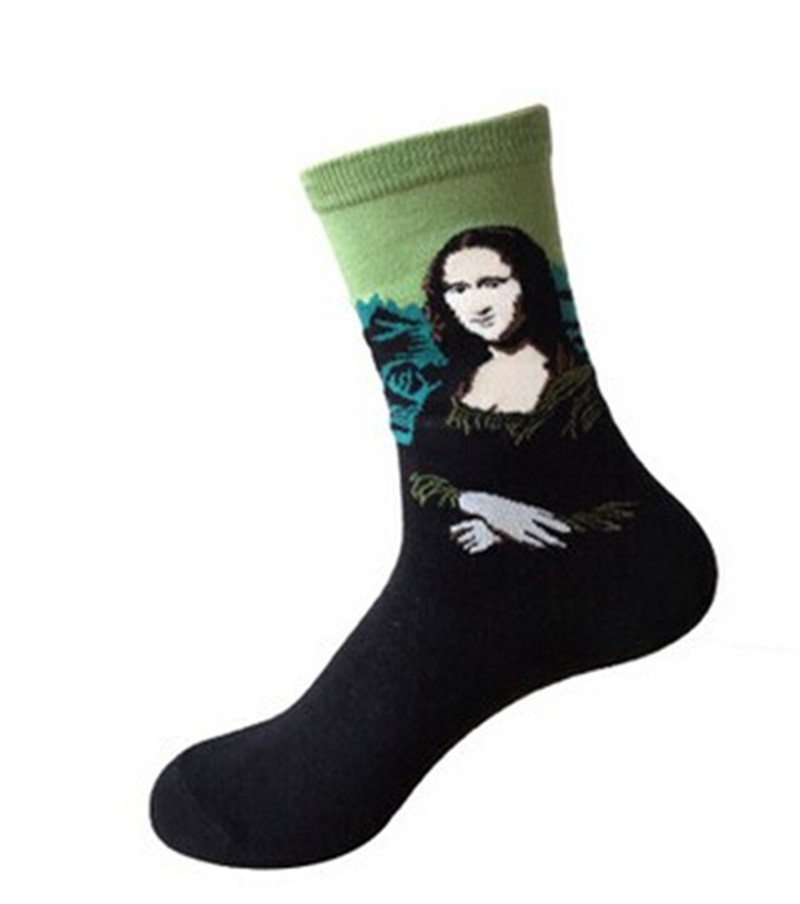 <font><b>Unisex</b></font> NEW Fashion <font><b>3D</b></font> <font><b>Retro</b></font> <font><b>Painting</b></font> <font><b>Art</b></font> <font><b>Socks</b></font> <font><b>Unisex</b></font> <font><b>Women</b></font> <font><b>Men</b></font> <font><b>Funny</b></font> Novelty Starry Night Vintage <font><b>Socks</b></font> image