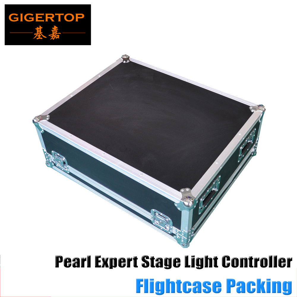 China Make Led Stage Light Controller Pearl Expert with Keyboard Flight case Pack keyboard 13inch LED Display Titan 6.1 System