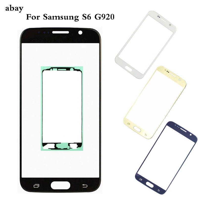 Replacement Outer Glass For Samsung Galaxy S6 G920 G920F Touch Screen Front Glass Outer Lens  & Adhesive