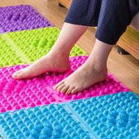 Durable Reflexology Foot Massage Pad Toe Pressure Blood Circulation Plate Mat WS99