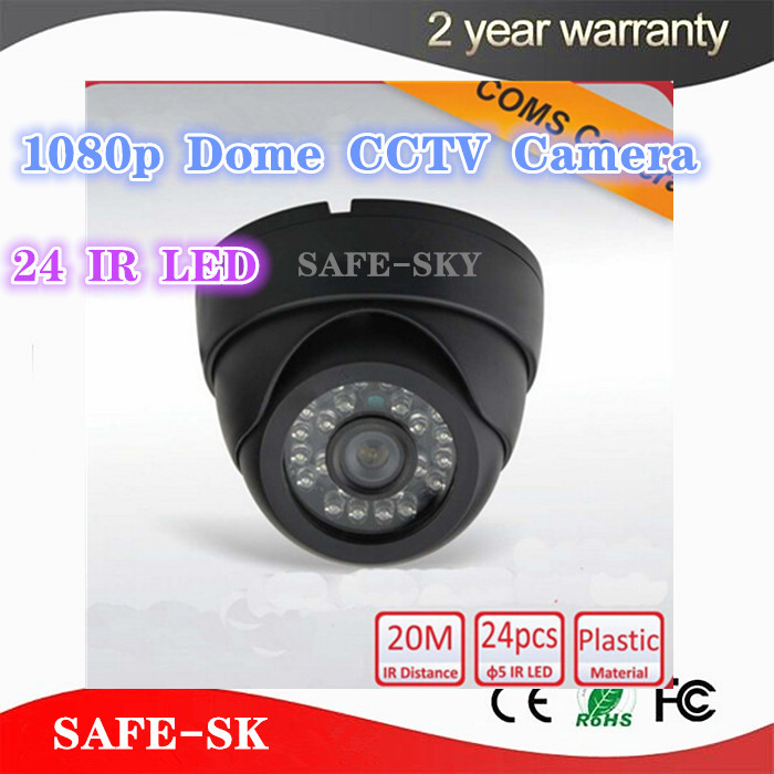 Security Camera HD 1080P CMOS 24 IR LED Color IR Night Vision Surveillance Dome CCTV Camera Home Indoor Camera Video Camera Slae 1 3 sony cmos 1200tvl cctv security camera metal ip66 24 led color ir night vision surveillance home outdoor video camera