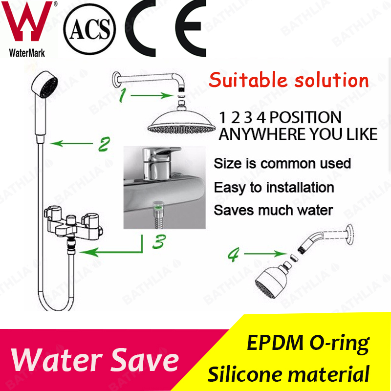 Shower Hose And Adapter Flow Regulator Restrictor With Water & Energy  Saving 5Litre per min Made of Silicone and EPDM-in Aerators from Home