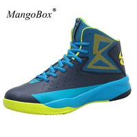 Big Size Male Female Basketball Sneakers Man Sport Shoes High Top Men Women Sneakers Basketball Leather