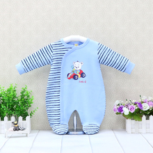 Kids Baby Boys Rompers Long Sleeve Clothes 0-12M