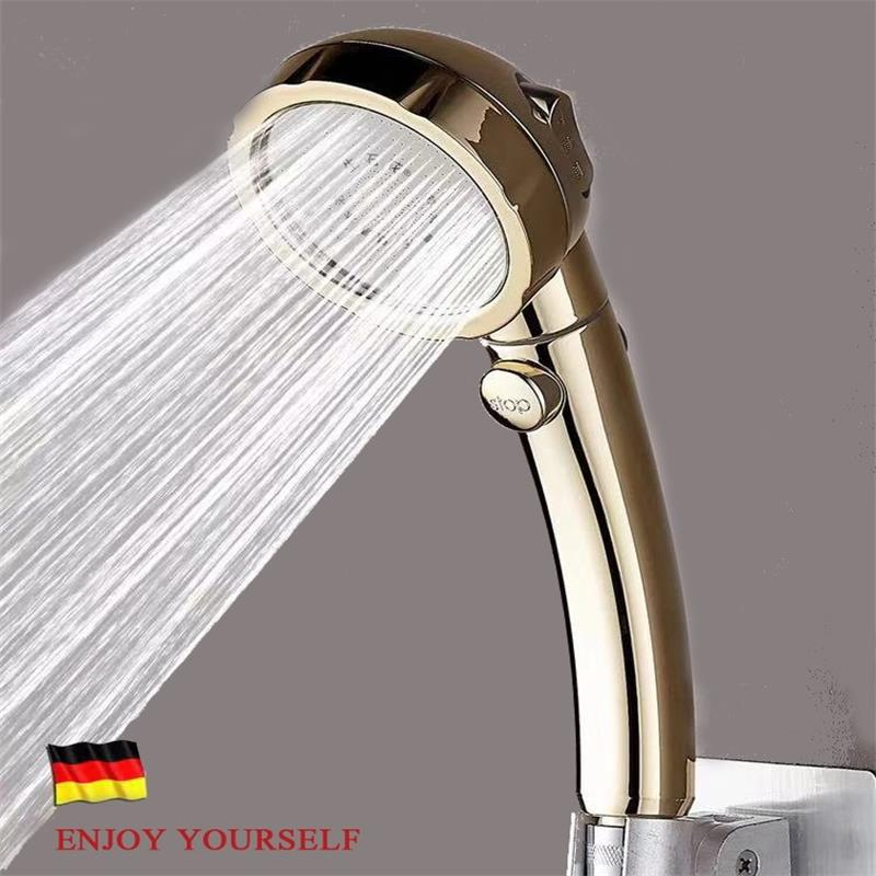 Korean bathroom 3 functions abs chrome shower head with Switch Душ
