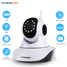 Floureon 720P Беспроводная ip-камера 1.0MP WLAN H.264 безопасности CCTV панорамирование/Плитка ночного видения WiFi камера детский монитор 2 способа аудио cam