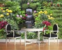 Beibehang Suitable For Indoor 3d Wallpaper Silk Cloth Fresh Seductive Garden Waterfall Fountain Mural Background Papel