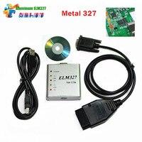 10pcs Lot DHL Free Aluminum ELM327 USB Metal ELM327 Auto OBD2 Diagnostic Interface OBDII CAN BUS