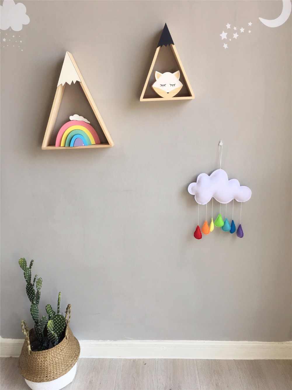 D Ins Nordic nadziewane Cloud i Rainbow kolor krople deszczu draperie namiot ozdoby dla dzieci fotografia rekwizyty dekoracje