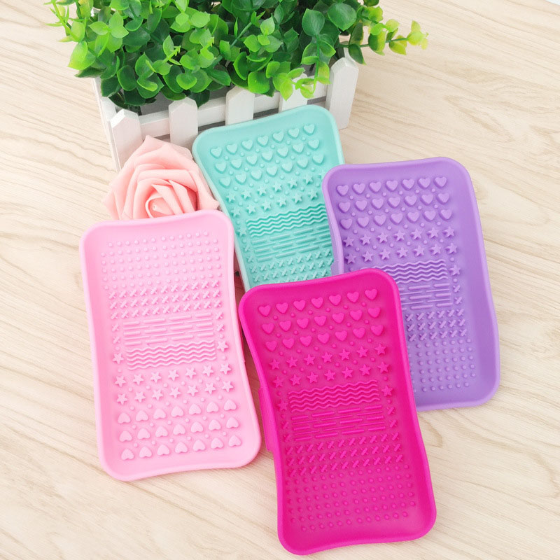 Silicone Brush Cleaning Tools Soap Dish Shape Cosmetics Cleaner Washing Brushes Cleansers (9)