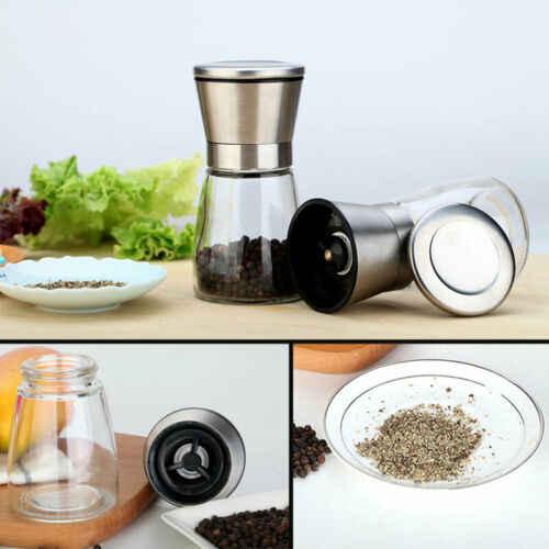 مطحنة الملح والفلفل من الفولاذ المقاوم للصدأ ملحقات المطبخ إعدادات أداة خشونة من السيراميك قابلة للتعديل