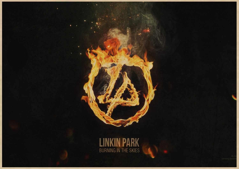 Musica Manifesti Nostalgico Rock Band Linkin Park Chester Charles Bennington kraft di carta Cafe bar poster Retro Poster A1