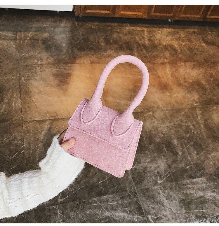NEW Brand 2019 Ladies Mini Scrub Flap Thread Totes Fashion Cute Party Shopping Purse Women Handbag Shoulder Crossbody Bags