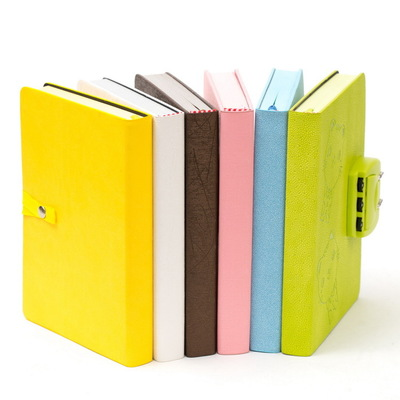 2017 Multifunction Hardcover Commercial Diary Bookwith Coded Lock Notebook Password Lock 365 day thick hardcover personal diary