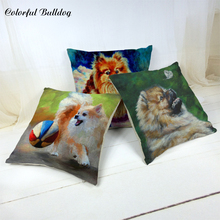 Cushion-Cover Chair Decorativos Cojines Butterfly Sea-Print Rose Pomeranian Couch Lively