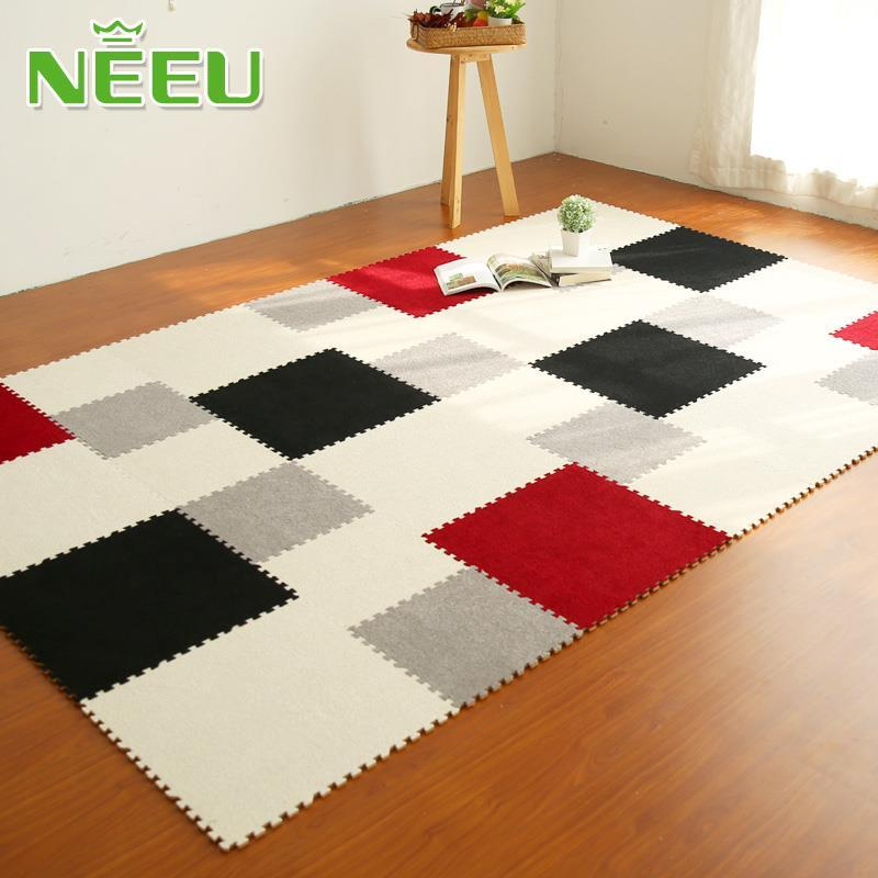 NEEU Newest Thickening Velvet Floor Mats EVA Foam Carpet For Living Room Bedroom Childrens Rugs Baby