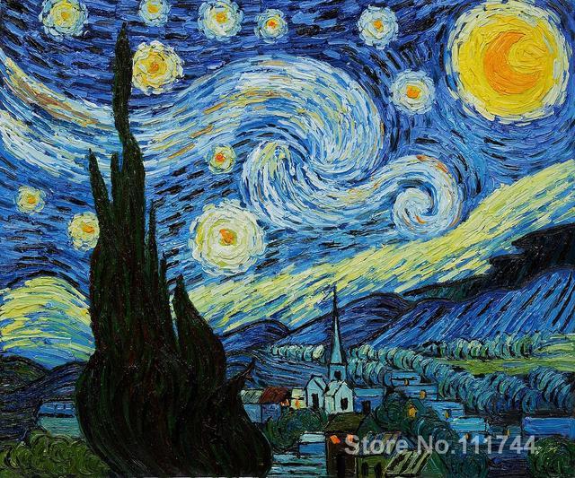Handgeschilderde Vincent Van Gogh olieverf reproducties