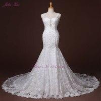 Julia Kui Beaded And Lace Mermaid Wedding Dress Romantic Sweetheart Spaghetti Straps Sexy Backless Vestido De Noiva Plus Siz