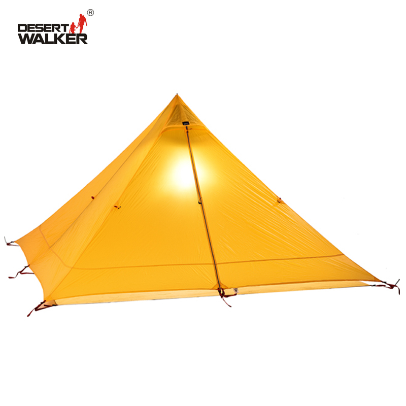 720G Lightweight Tent 1 Person 4 Seasons 15D Nylon Double-Side Silicone Coating Waterproof 3000MM Teepee Tipi Tents For Camping
